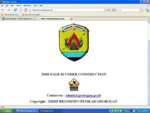 Web_pemda Grobogan_dalam Perbaikan
